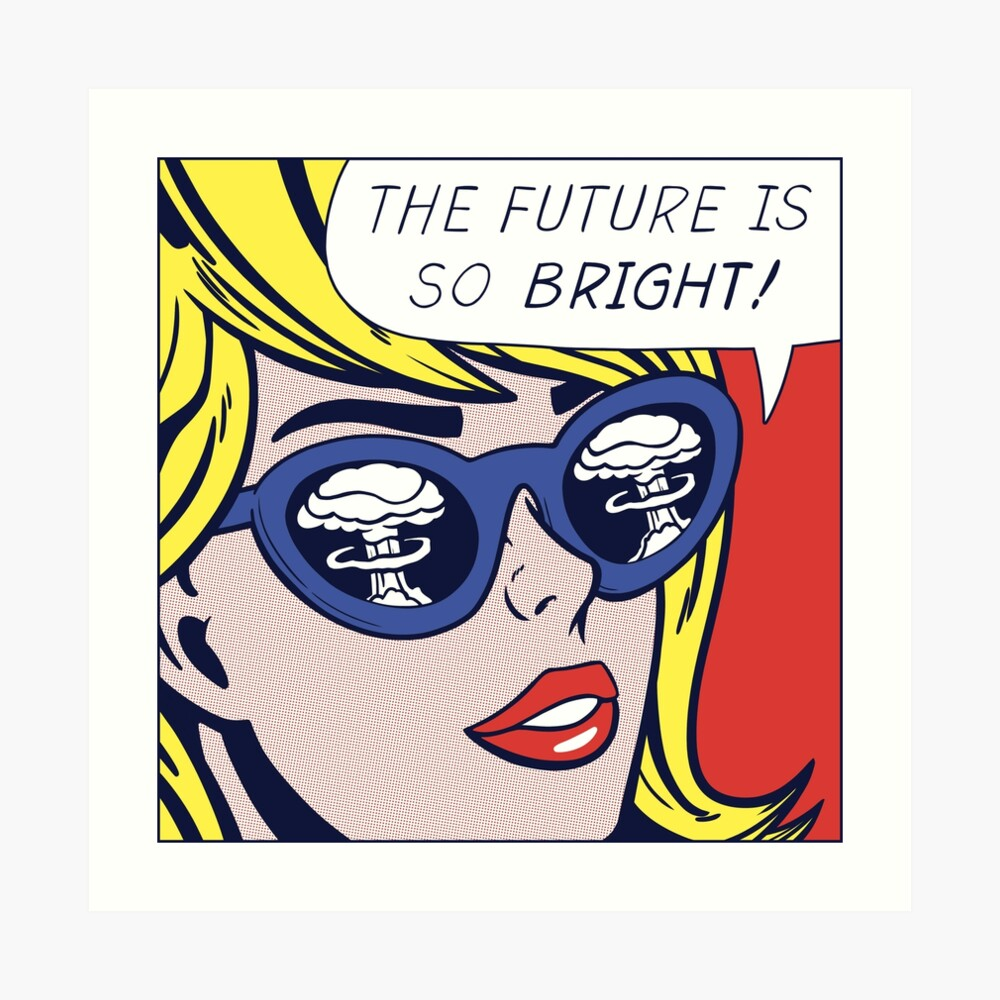 Pop Optimistic Girl Art Print