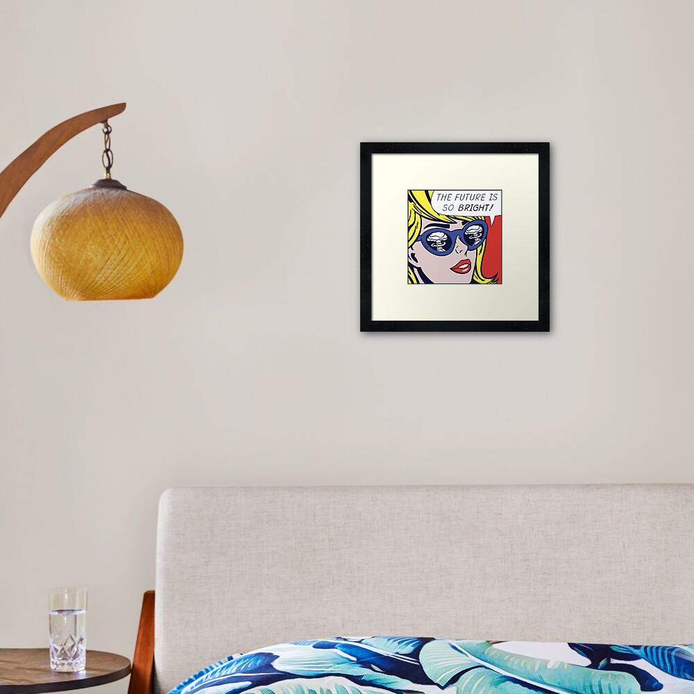 Pop Optimistic Girl Framed Art Print