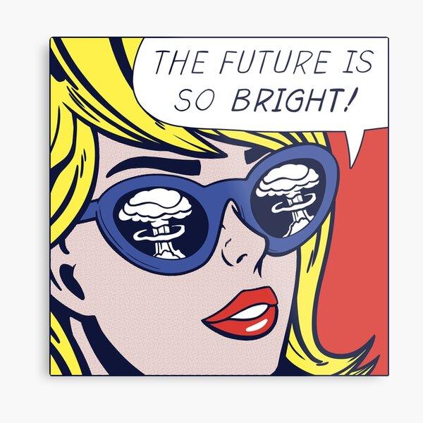 Pop Optimistic Girl Metal Print