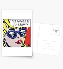 Pop Optimistic Girl Postcards