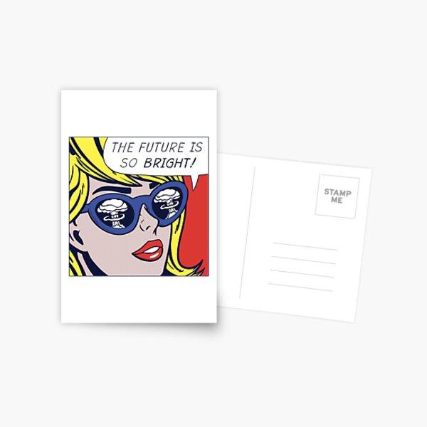 Pop Optimistic Girl Postcard