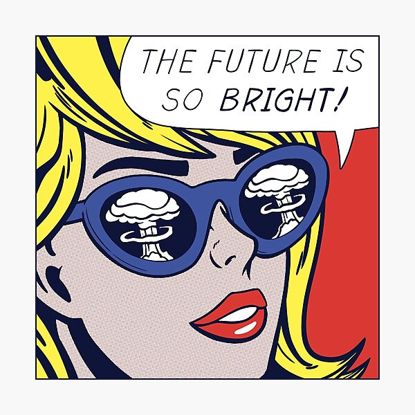 Pop Optimistic Girl Photographic Print