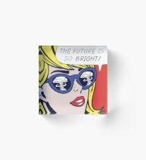 Pop Optimistic Girl Acrylic Block