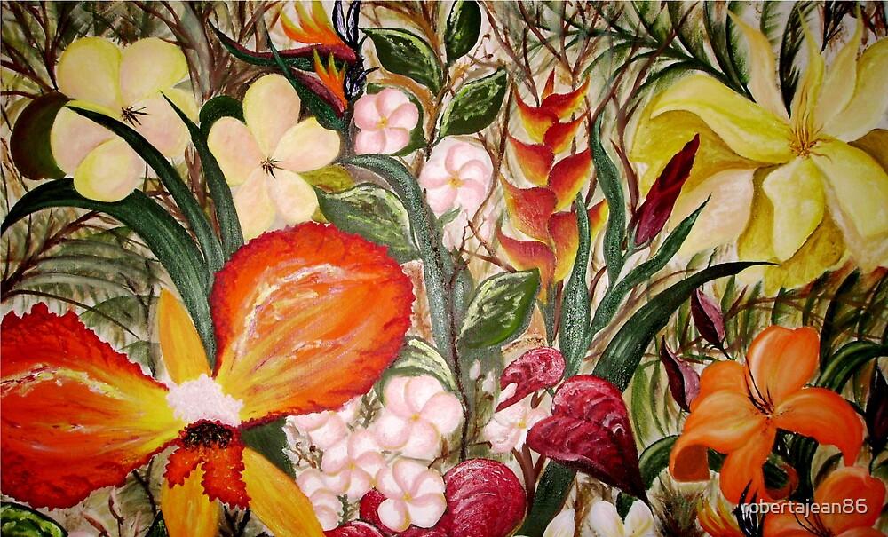 Tropical Flowers by robertajean86
