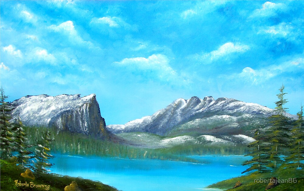 Hallet Peak and Flattop Mountain by robertajean86