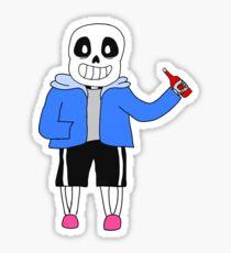 Sans w/ Ketchup Sticker