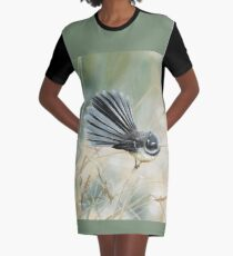 Morning Light - Fantail Graphic T-Shirt Dress