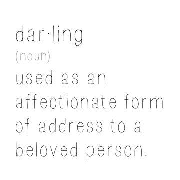Darling  by bluEyedbadger