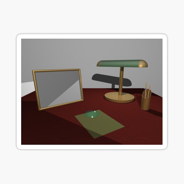 Desk: POV RAY CGI! Sticker