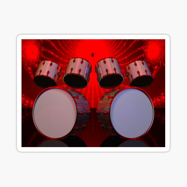Drums: POV RAY CGI! Sticker