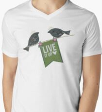 Live It Up - Blackbirds Men's V-Neck T-Shirt