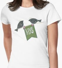 Live It Up - Blackbirds Women's Fitted T-Shirt