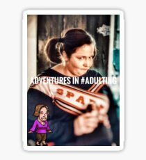 Claire Manning - Adventures in #Adulting Sticker