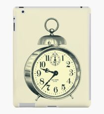 antique typographic vintage alarm clock iPad Case/Skin