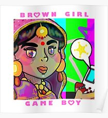 Brown Girl + Game Boy Poster