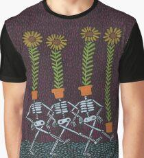 Sunflower Skeletons Graphic T-Shirt