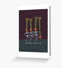 Sunflower Skeletons Greeting Card