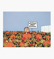 The Peanuts - Linus and The Great Pumpkin Photographic Print