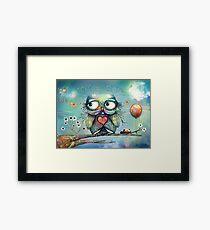 little wood owl Framed Print