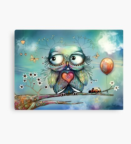 little wood owl Canvas Print
