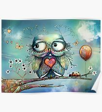 little wood owl Poster