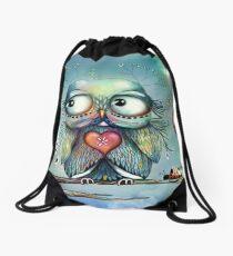 little wood owl Drawstring Bag