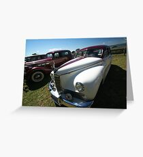 Packard #4 - 1946 Clipper - White & Red Greeting Card