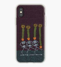Sunflower Skeletons iPhone Case