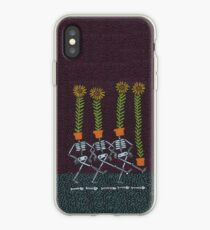 Sunflower Skeletons iPhone Case