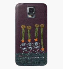 Funda/vinilo para Samsung Galaxy Esqueletos de girasol