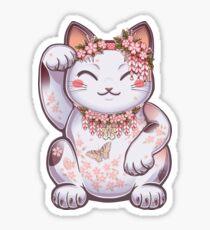 Hanami Maneki Neko: Shun Sticker