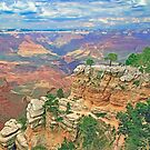 Bright Angel Trail Grand Canyon by Walter Colvin