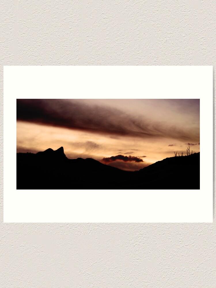 Alternate view of Cathederal Rock, Mount Wellington Range, Tasmania Art Print