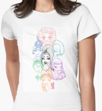 Fierce, graphic Rupaul Dragrace contestant original illustration Womens Fitted T-Shirt