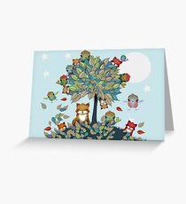 Der Freundschaftsbaum Grußkarte