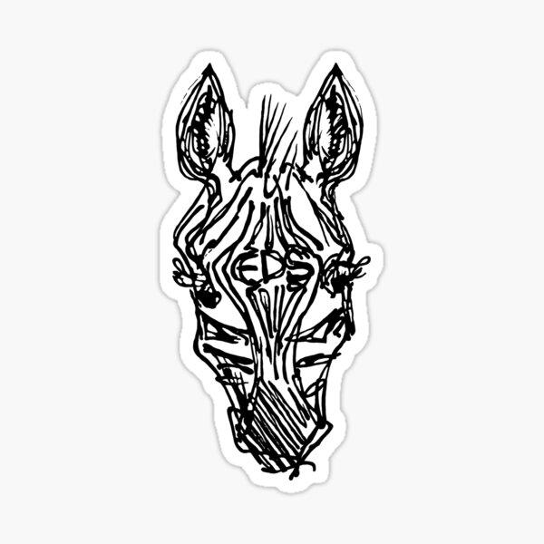 EDS Forehead Zebra Inkwork Sticker