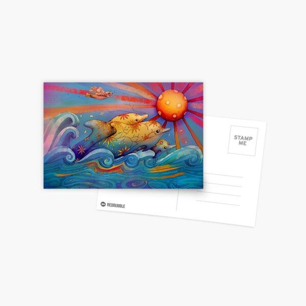 rainbow dolphins Postcard