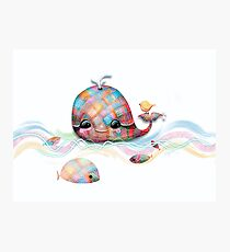 Patchwork Whale Photographic Print