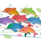 A Rainbow of Dolphins by Karin Taylor