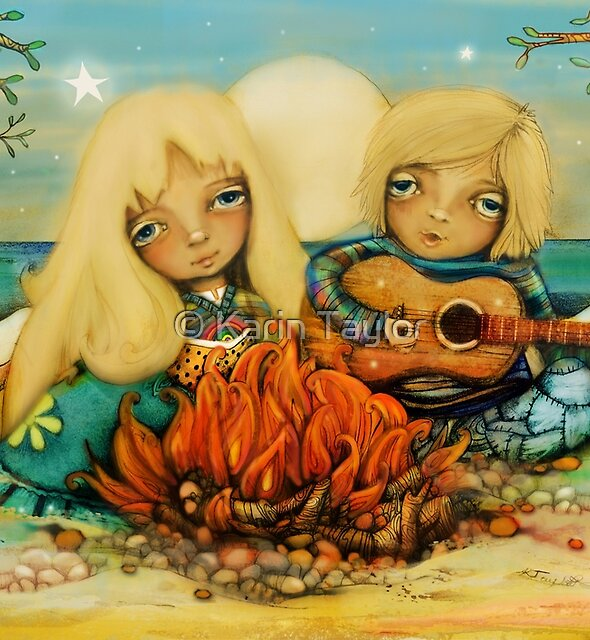 beach campfire by Karin Taylor