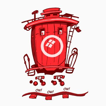 little red caboose two by johnkratovil