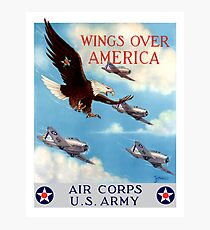 Wings Over America -- Air Corps WWII Photographic Print