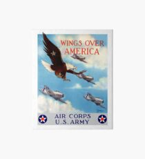 Wings Over America -- Air Corps WWII Art Board