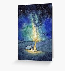Watercolor Night Sky Greeting Card