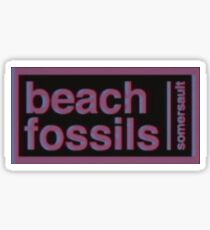 beach fossils sticker Sticker