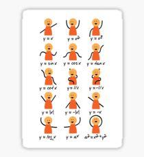 Funny Math Graph T-Shirt Sticker