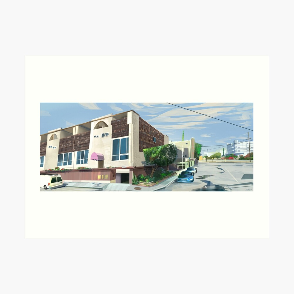 L.A House #1 Art Print