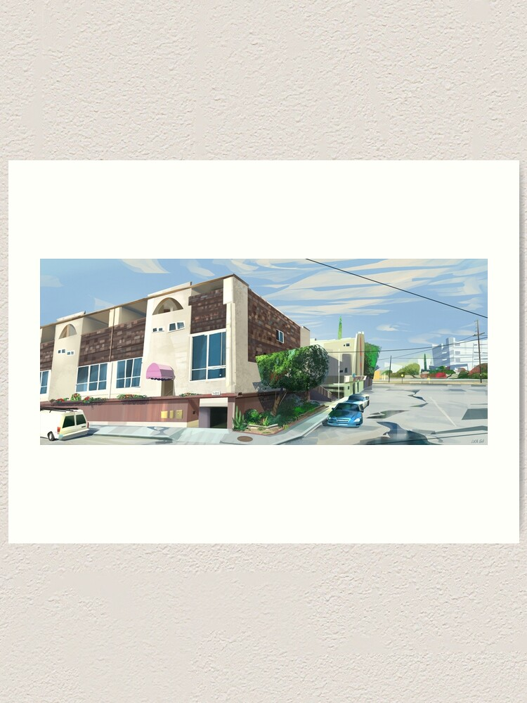 Alternate view of L.A House #1 Art Print