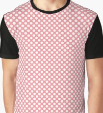 Flamingo Pink Polka Dots Graphic T-Shirt