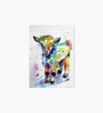 Cute baby goat Art Board